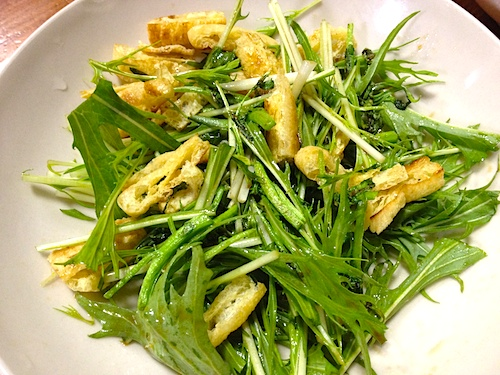 水菜サラダ