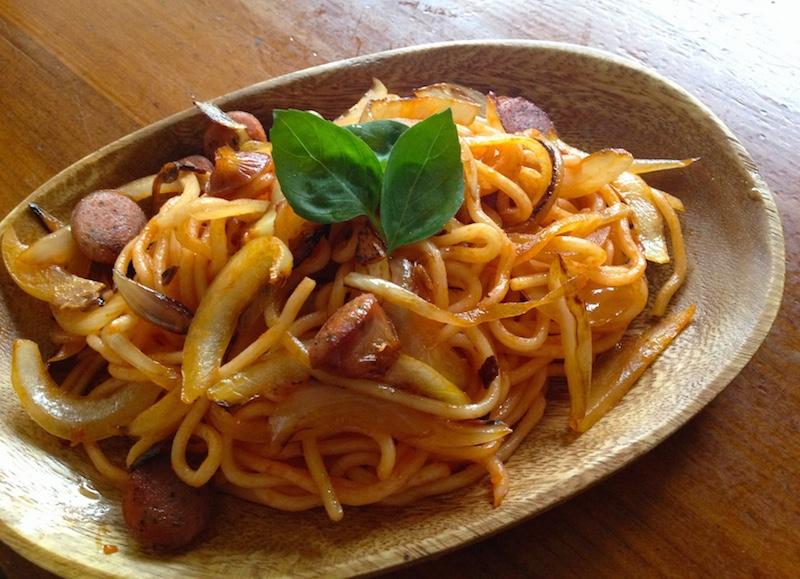 ソフト麺トマトソース