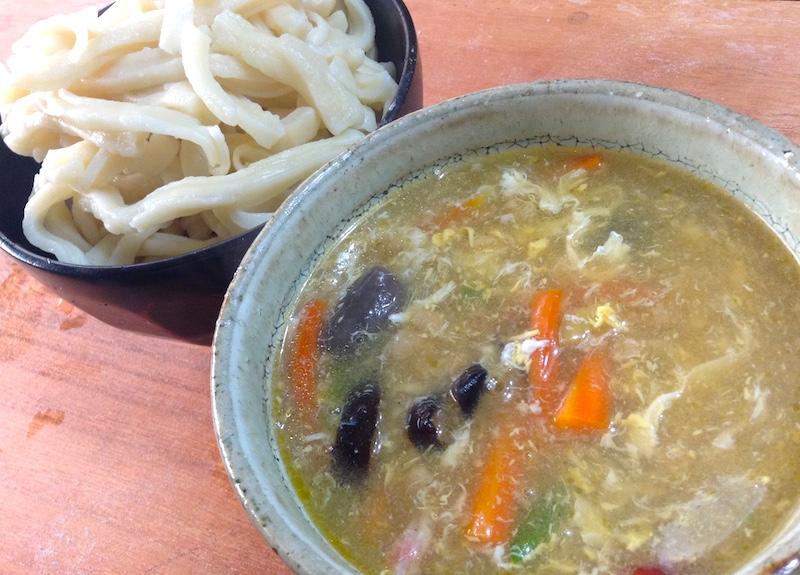 自作ソフト麺&中華スープ