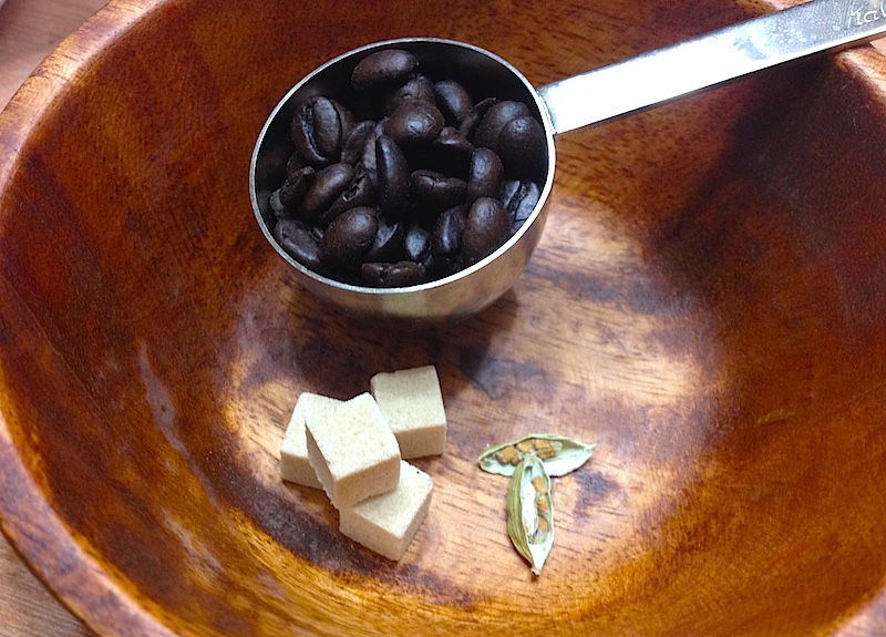 カルダモンコーヒーの材料