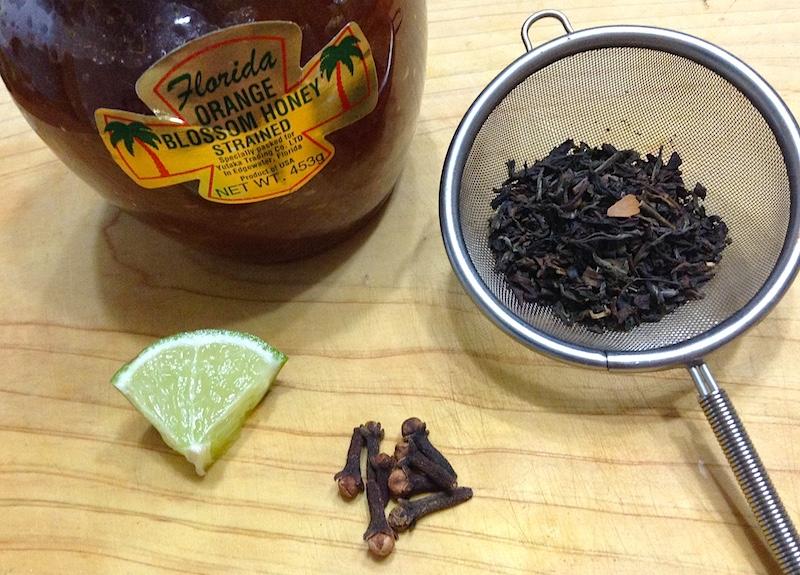 クローブ紅茶の材料