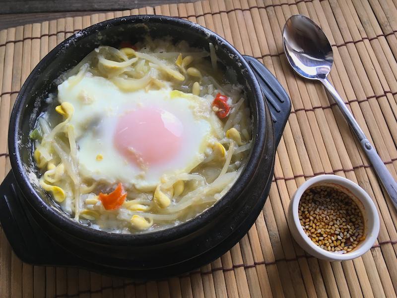 韓国で習った【本格】コンナムルクッパ(豆もやし雑炊)レシピ