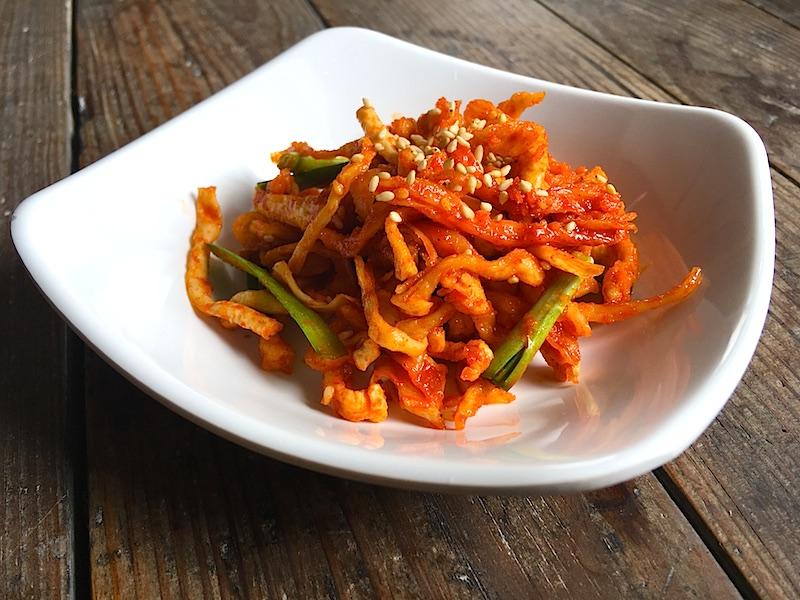 韓国風*さきいかと干し大根の和え物レシピ(ムマルレンイ ムチム)