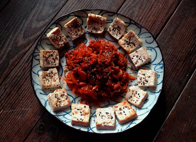 韓国で習った【トゥブキムチ】豆腐と豚キムチのレシピ*簡単つまみ*