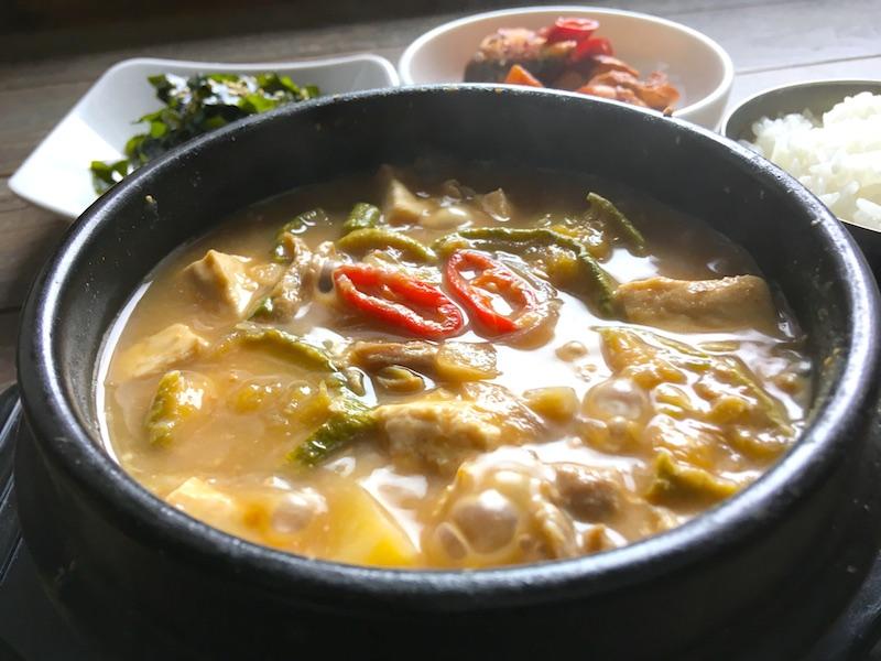 テンジャンチゲ(味噌チゲ)基本レシピ