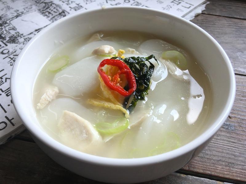 鶏肉トックッ【韓国風もちスープ】レシピ