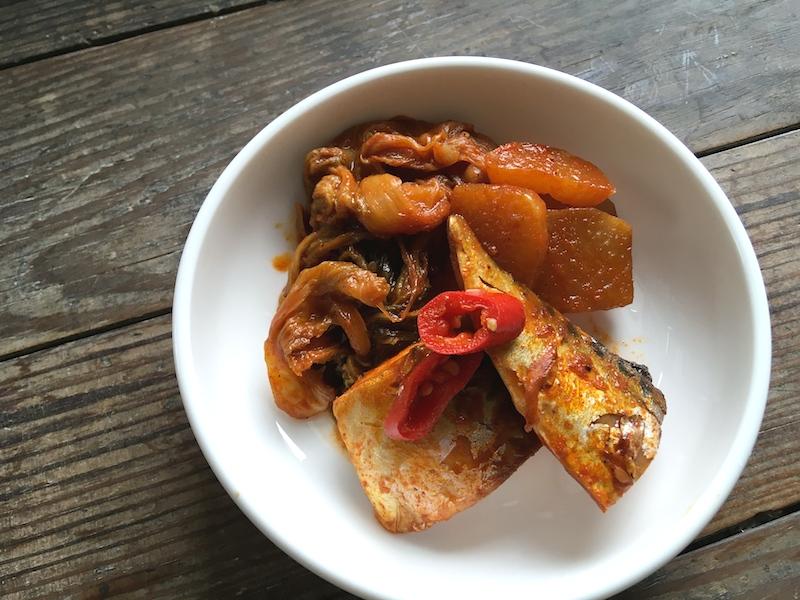ウゴジとサバの煮物レシピ