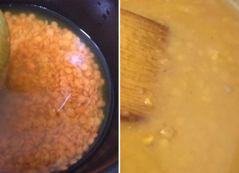 レンズ豆を煮る