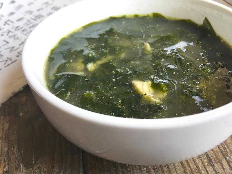 ♪韓国風♪鶏肉わかめスープ【ミヨックッ】レシピ