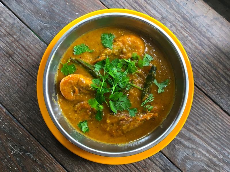 インド風*殻付き小エビのカレーレシピ