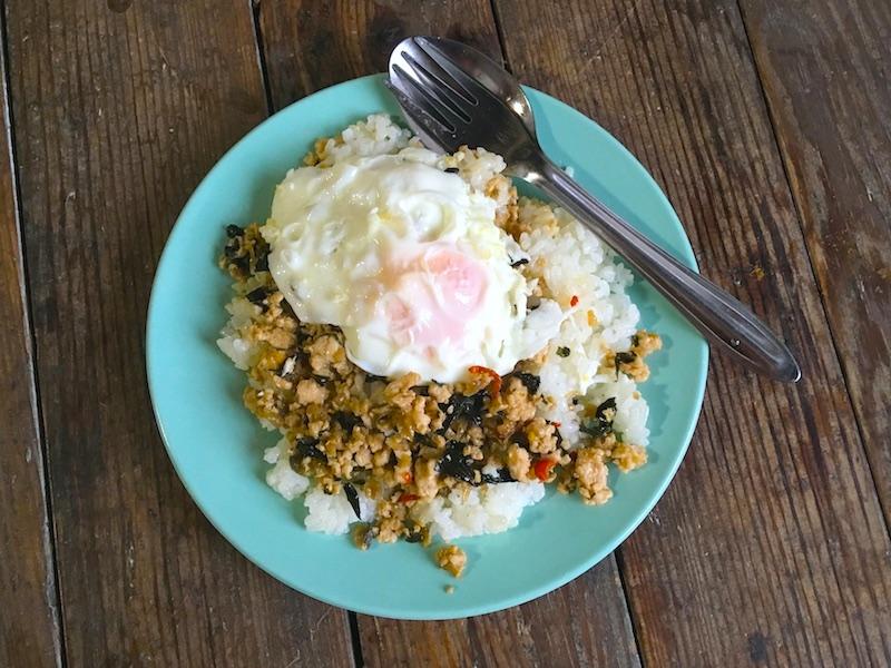 パット・ホーラパー・ガイ(ガパオライスもどき)レシピ