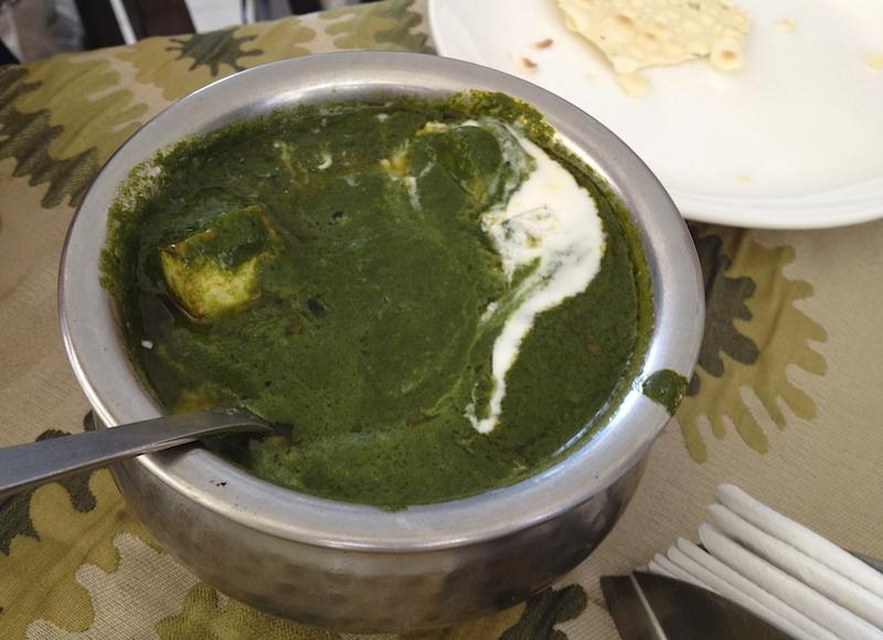 インドで食べたサグカレー