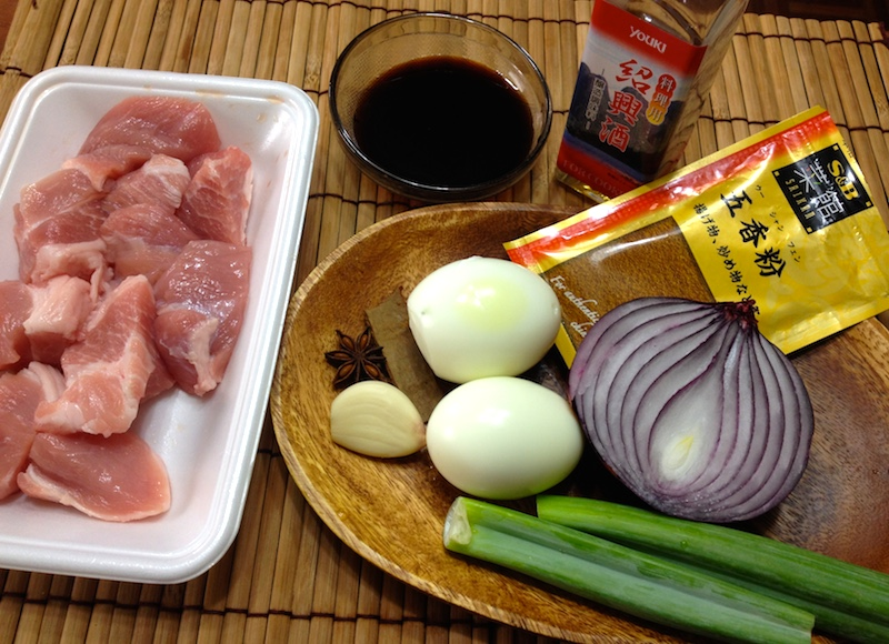 魯肉飯の材料