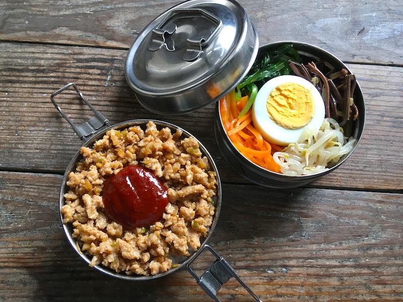 ビビンバ弁当のレシピ