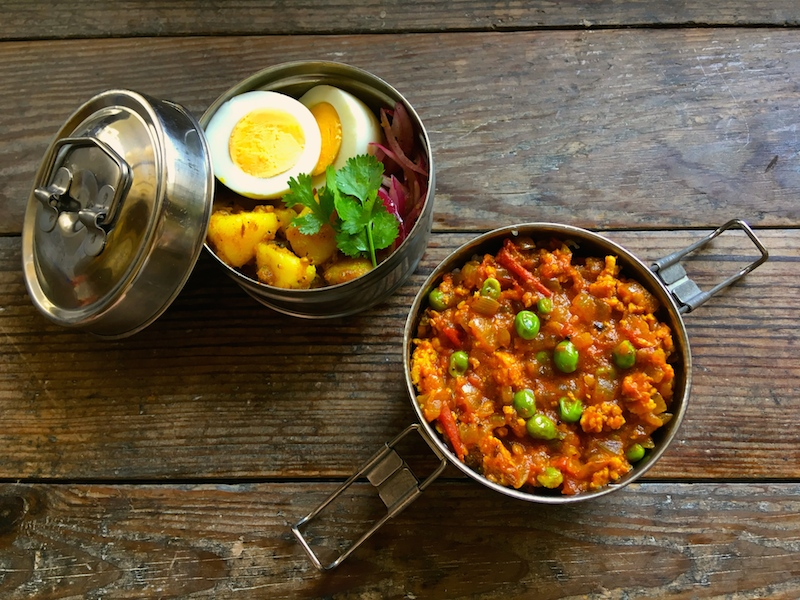 インドカレー弁当(キーママタール)レシピ