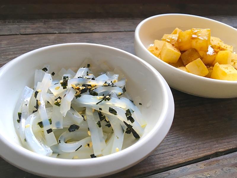 緑豆粉の簡単レシピ【チョンポムクムチム】と【くずもち風デザート】