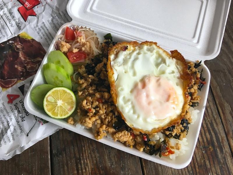 鶏肉ガパオライス弁当のレシピ