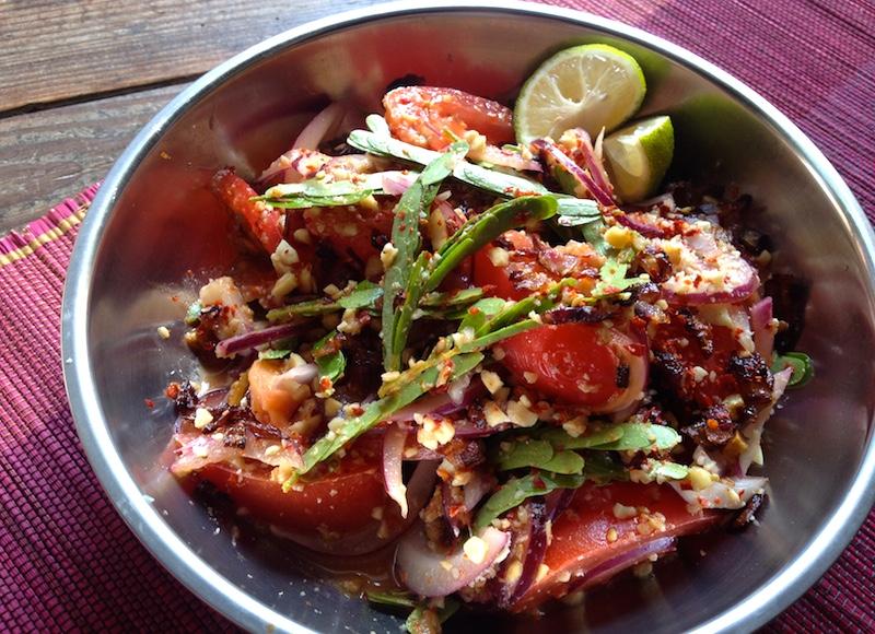 タマリンドの葉のミャンマー風サラダレシピ