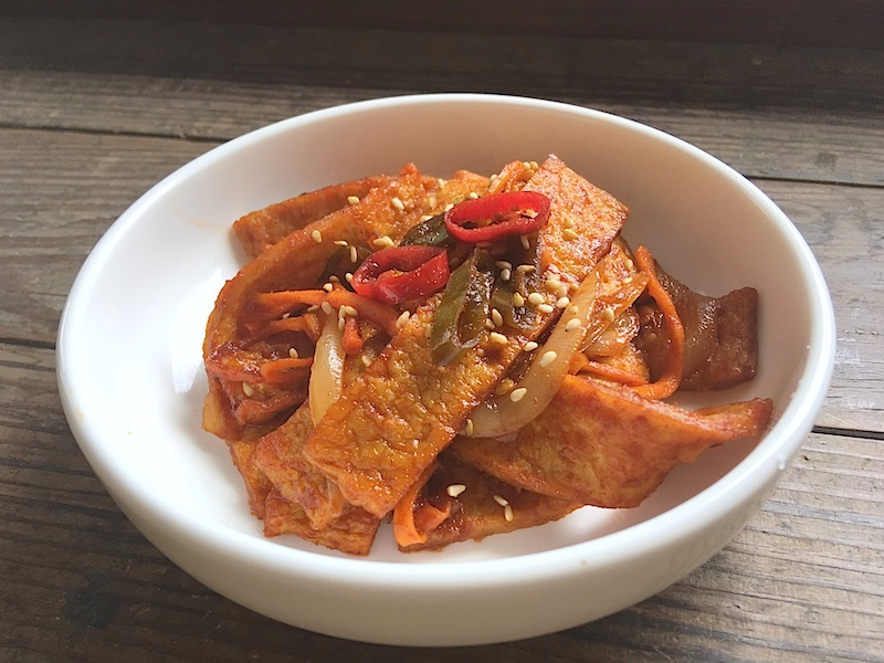 オムクポックム(さつま揚げ炒め)レシピ