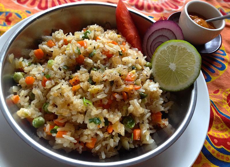 インドのフライドライスレシピ
