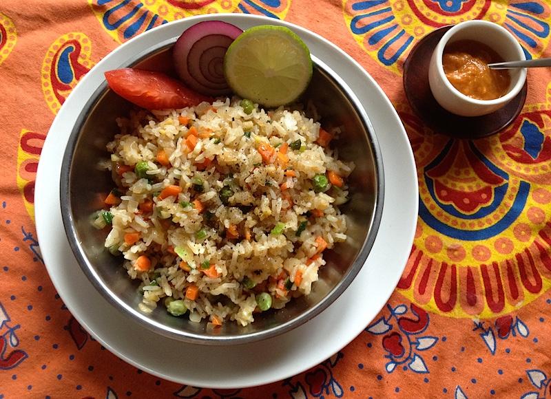 インド流ベジフライドライスのレシピ
