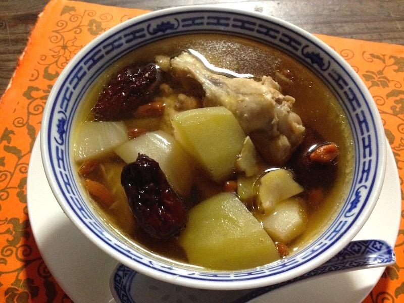 鶏肉とハヤトウリの薬膳スープレシピ