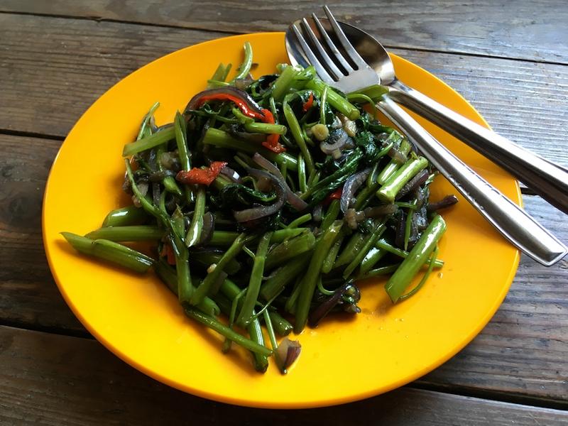 カンコンブラチャン(空芯菜炒め)レシピ