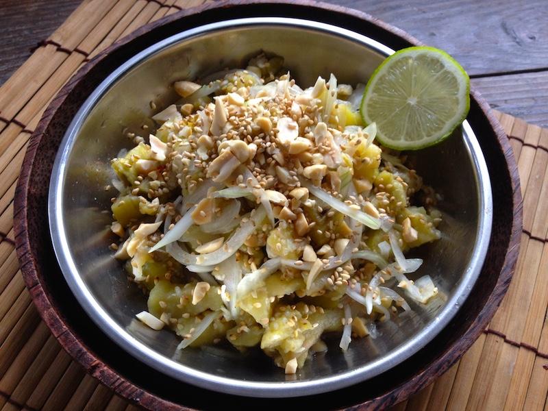ミャンマー風*焼きナスサラダ【カヤンディトウッ】レシピ