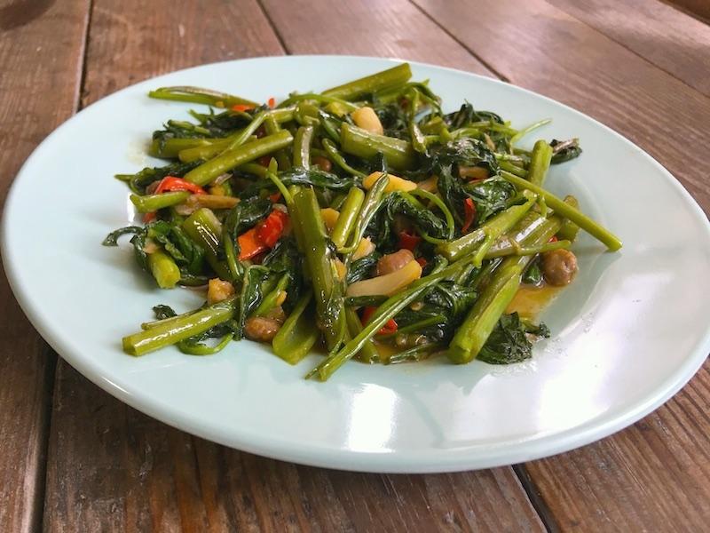 タイ風空芯菜炒めのレシピ