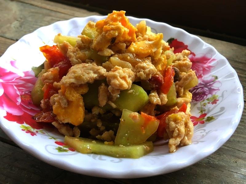 タイ風*ハヤトウリのタオチオ炒めレシピ