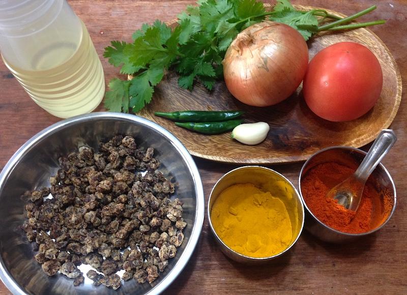 納豆カレーの材料