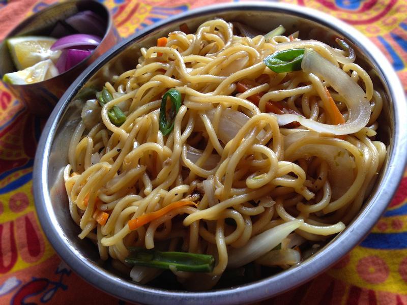 インド風ベジチョウメン(野菜の焼きそば)レシピ