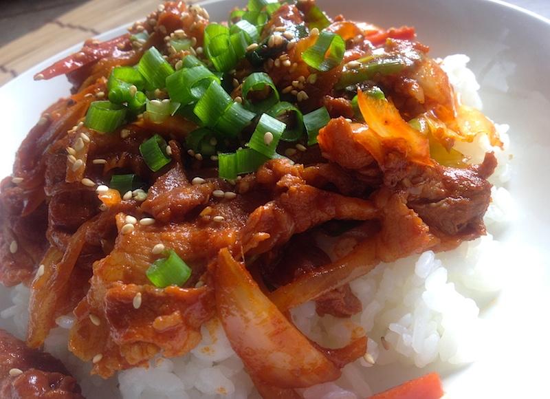 韓国風豚肉丼
