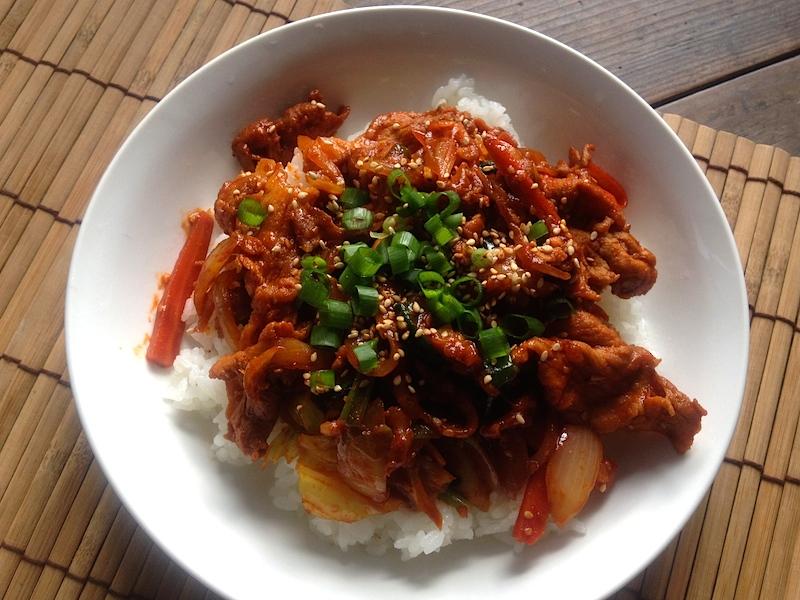 韓国風*豚肉炒めごはん【チェユクトッパブ】レシピ