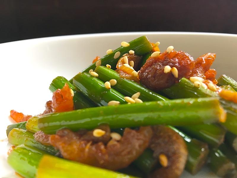 韓国風ニンニクの芽の炒め物(マヌルチョン ポックム)レシピ