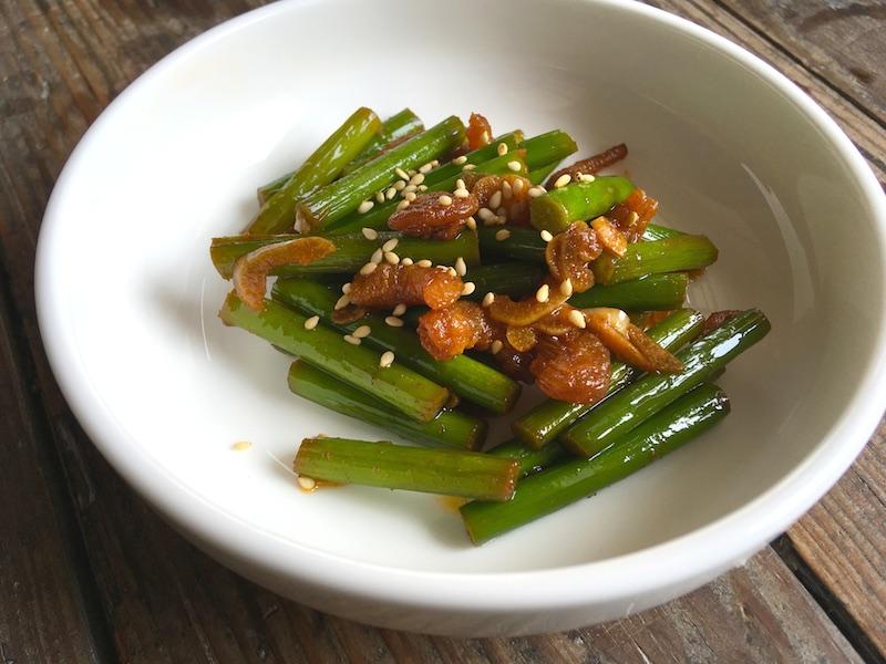 マヌルチョン ポックム(ニンニクの芽炒め)レシピ