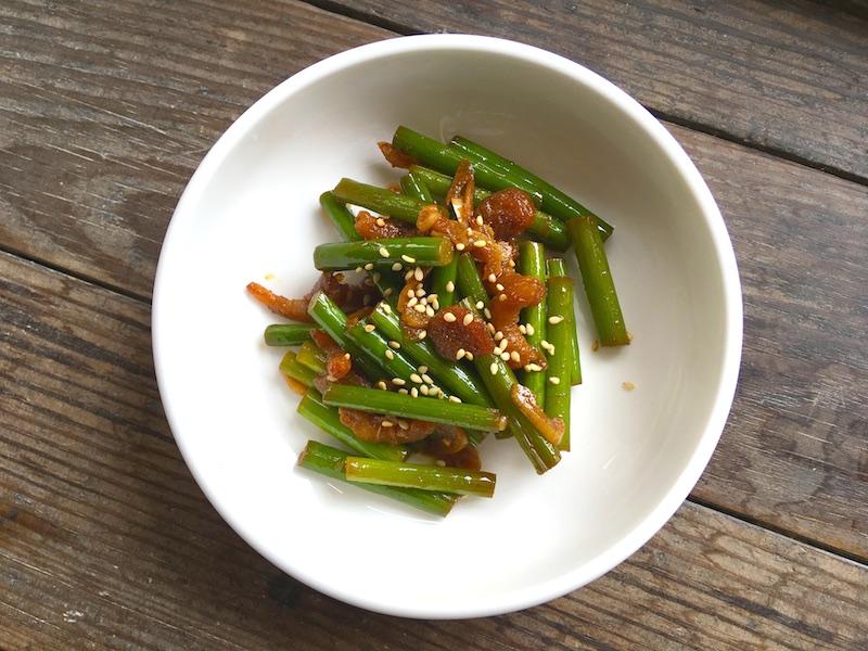 韓国風にんにくの芽炒めレシピ