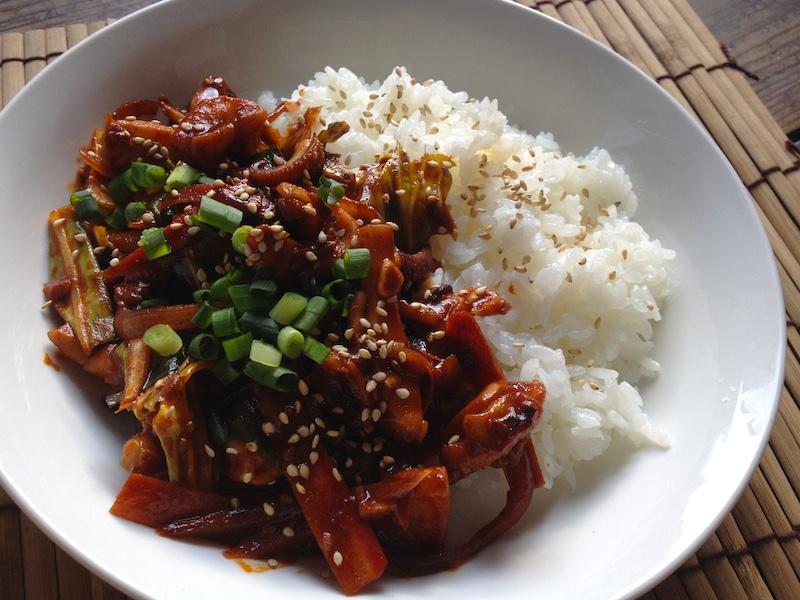 オジンオトッパブ(イカ炒め丼)レシピ