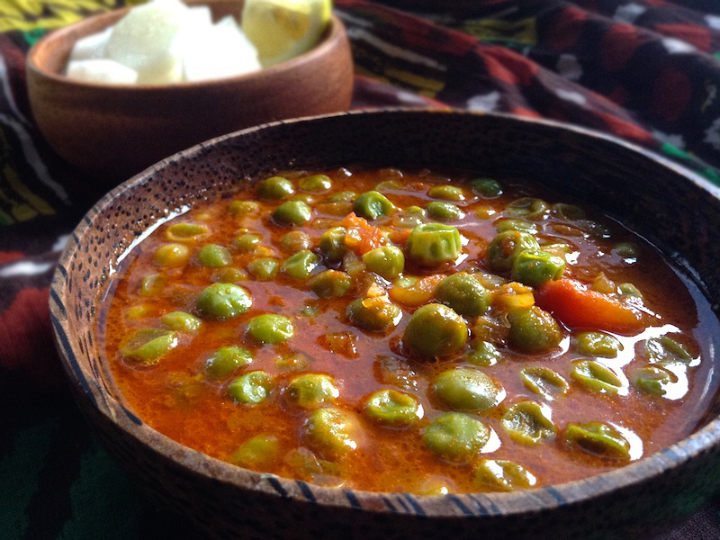 【ベジタリアンレシピ】インド人に教わったグリーンピースのカレー
