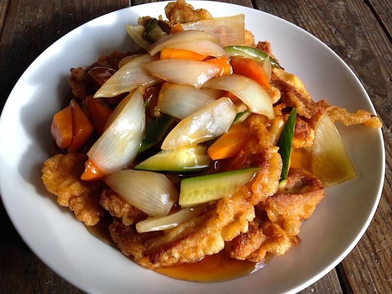 タンスユク【韓国式酢豚】レシピ(私はタレをかけて食べる派です)