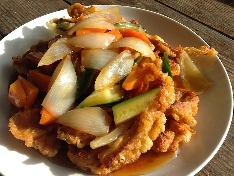 韓国式酢豚タンスユク(탕수육)レシピ