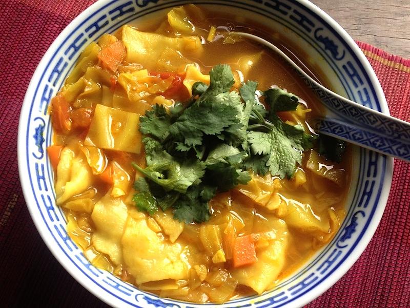 【チベット料理】ベジテントゥク(チベット風すいとん)レシピ