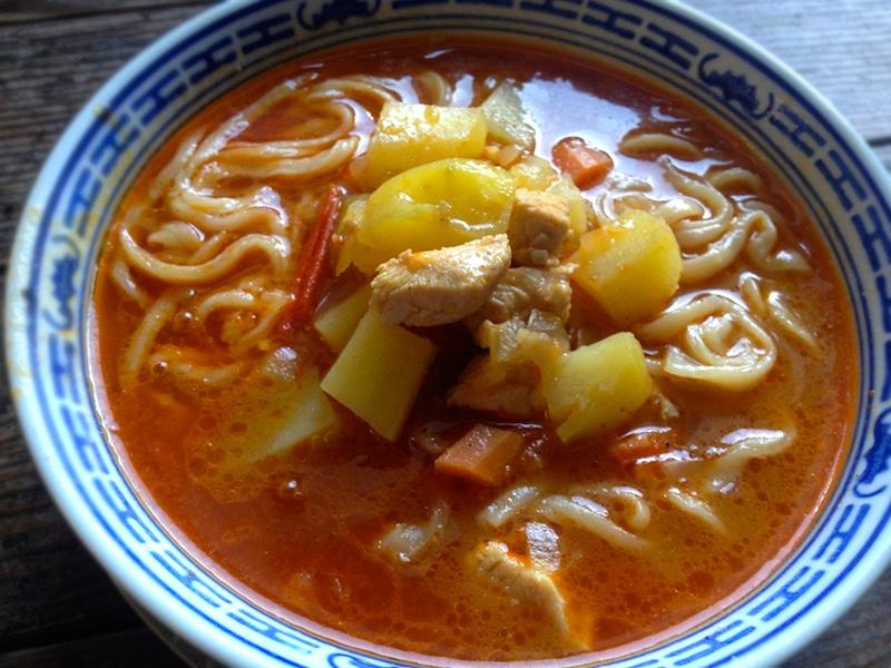 チベット風うどん【チキントゥクパ】レシピ