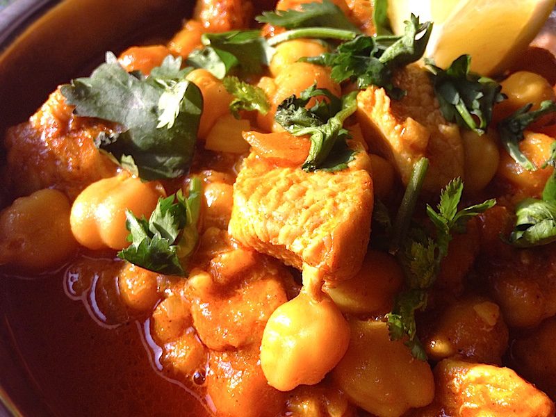 鶏肉とひよこ豆カレー