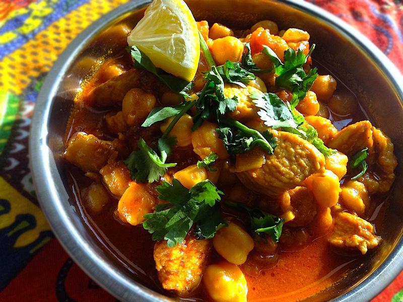 ひよこ豆とチキンのインドカレー【チャナチキン】レシピ