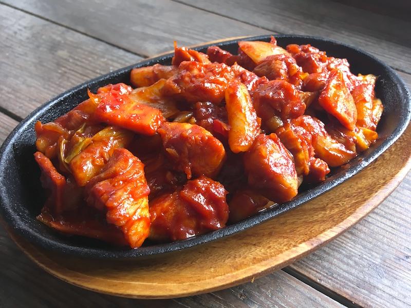 タッカルビ【鶏肉の甘辛炒め】基本レシピ