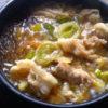 【韓国料理】簡単!豚プルコギ鍋のレシピ(돼지 뚝불)