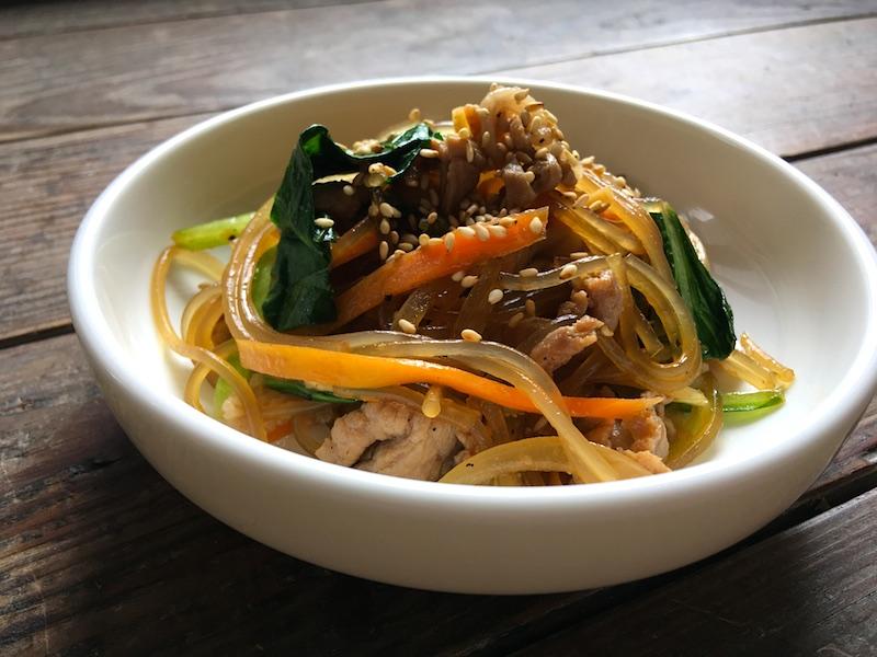 豚肉と野菜のチャプチェ【韓国春雨の炒め物】レシピ
