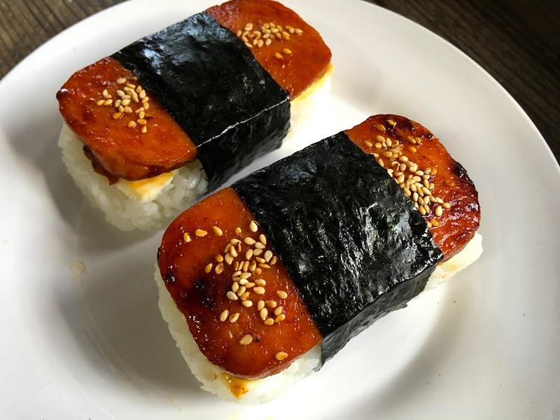 キムチチーズスパムむすびレシピ
