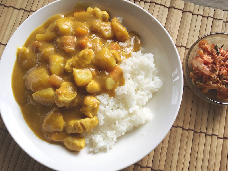 オットギ【懐かしの黄色いカレー】韓国カレーを作ってみました